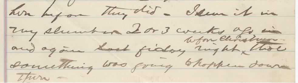 Hester Campbell testimony, 1885.
